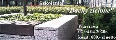 Szkolenie z projektowania i budowy dachów zielonych